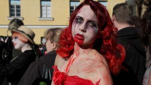 Zombiewalk i Helsingfors 2012.