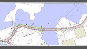 Karta över planerna på Tyska holmens bro