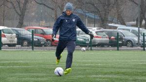 Mathias Lindström tränar