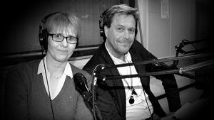 Marian Lindholm och Håkan Wikman är värdar i Musikväktarna