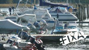 båtar vid Störören i Sibbo