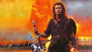 Mel Gibson som William Wallace i filmen Braveheart.