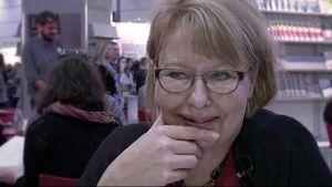Maria Antas berättar om sitt jobb med bokmässan i Frankfurt