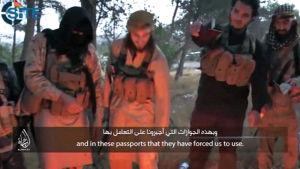 Jihadister bränner sina franska pass
