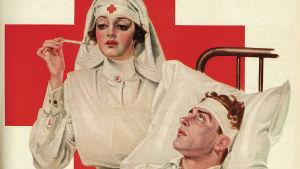 sjuksköterna mäter tempen