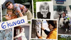 Kirjailija ja tutkija, tiedekeskus Heurekan tapahtumapäällikkö, Paula Havaste kokosi Kuusi kuvaa -ohjelmaa varten itselleen keskeisiä kuvia elämän varrelta, ne kokosi yhdeksi kuvaksi Sami Rouhiainen.