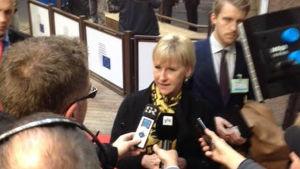 Margot Wallström, Sveriges utrikesminister