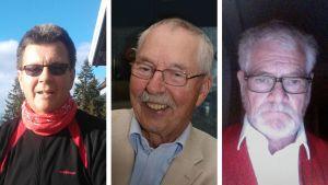 Peter Karell, Bjorn Carneholm och Bertil Lassenius