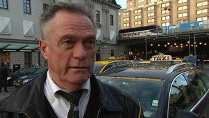Hans Nordin, chaufför vid Taxi Stockholm.