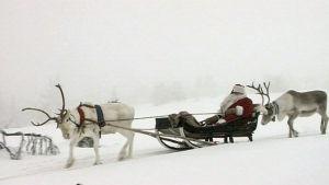 Julgubben åker iväg från Korvatunturi