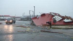 Tornadoskador i Mississippi på julafton 2014.