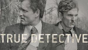 True Detective-sarjan etsivät Marty Hart (Woody Harrelson) ja Rust Cohle (Matthew McConaughey)