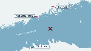 fartyg, finska viken, karta