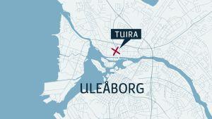 Karta över Uleåborg