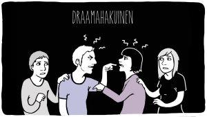 Alkoholistin läheistyyppi: Draamahakuinen