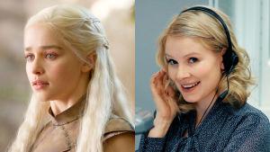 Daenerys Targaryen ja Pamela Tola TV2:n Game of Thrones-kilpailussa
