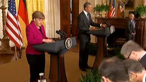 Obama och Merkel ger sin syn på Ukraina