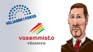 Karikatyr av Paavo Arhinmäki