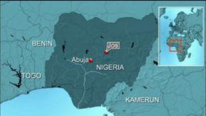 Karta över Nigeria