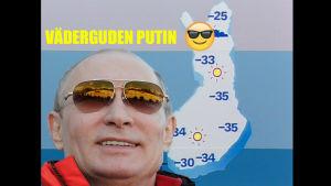 Humoristisk bild på Putin
