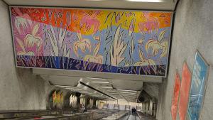 Konstverk i Kampens metrostation