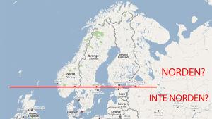 karta över norden