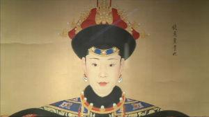 Porträtt av den kinesiska Qianlong-kejsarens älskarinna Chunhai.