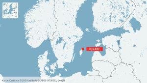 Karta som visar Ojnare på Gotland