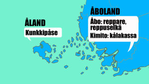 Photoshoppad bild på Finlands karta.