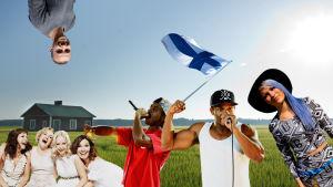 Photoshoppad bild av finska kändisar, radio x3m.