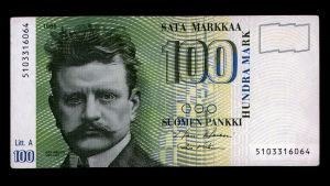 Jean Sibelius på hundra marks sedel.