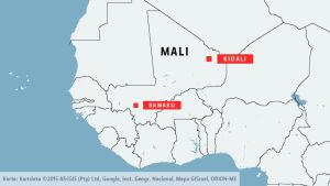 Kidali och Bamako i Mali