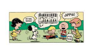 Ressu tanssii, Amadeus soittaa, muut lapset hurraavat.