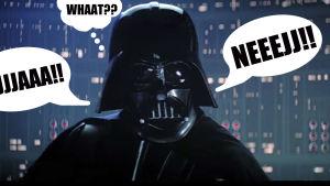 Photoshoppad bild på Darth Vader, X3M