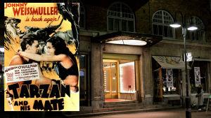 Före detta biograf Astor vid Stora Robertsgatan i Helsingfors visade Tarzanfilmer i tiderna.