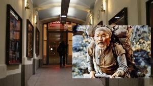 Före detta biografen Capitol i Helsingfors Forumkvarter visade filmen Dersu Uzala.