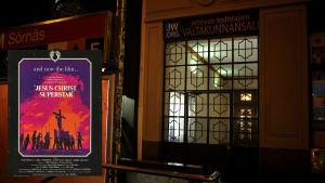 Före detta biograf Elysée vid Tavastvägen i Helsingfors visade filmen Jesus Christ Superstar.