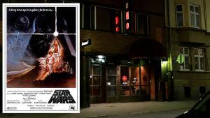 Före detta biograf Rigoletto vid Bangatan i Helsingfors visade filmen Star Wars.