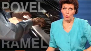 TV-nytt om Povel Ramel.