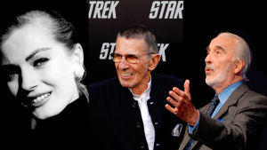 Photoshoppad bild på Anita Ekberg, Leonard Nimoy och Christopher Lee.