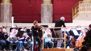 RSO harjoittelee Wienin konserttitalossa tammikuussa 2016