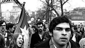 Demonstrerande studenter i USA 1968.