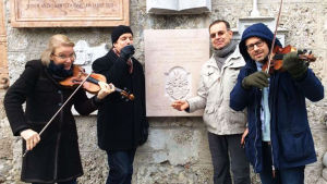 Radion sinfoniaorkesterin muusikot Salzburgissa