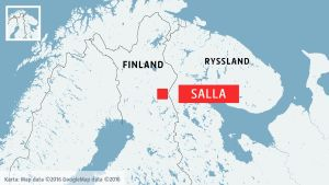 Karta över Salla