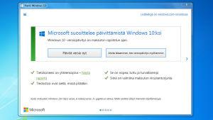Microsoft suosittelee Windows 10