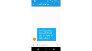 Sms-reklam för ett nätkasino