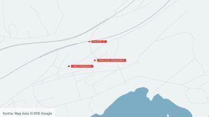 Karta över Dragsvik
