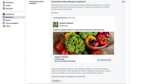 Facbookin yhteistötoiminnallinen mainos.