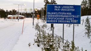 Gränsstationen Raja-Jooseppi i Lappland