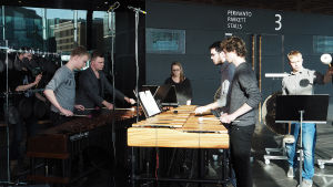 Siba Percussion Ensenble esiintyi Kantapöydän suorassa lähetyksessä 2.3.2016.